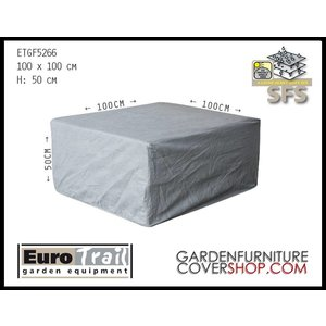 EuroTrail Protection cover for wicker table, 100 x 100 H: 50 cm
