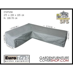 EuroTrail Cover for a dining corner sofa, 275 x 220 H: 100 / 70 cm