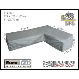 EuroTrail Dining corner sofa cover with higher backrest, 275 x 220 H: 100 / 70 cm