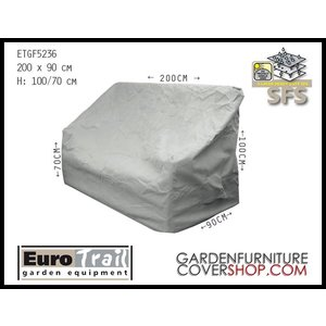 EuroTrail Cover for a rattan lounge sofa, 200 x 90 H: 100/70 cm