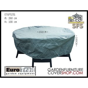 EuroTrail Weather cover for a round furniture set, Ø 260 x 100 cm