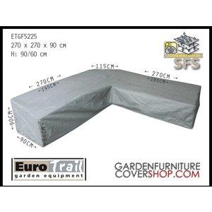 EuroTrail High corner sofa cover, trapeze  corner, 270 x 270 H: 90 / 60  cm