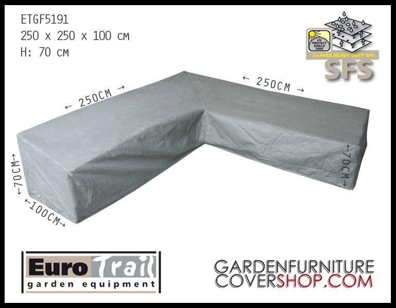 new styles c4885 18524 Cover for a L-shaped corner sofa 250 x 250 cm