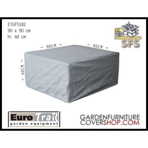 EuroTrail Weather cover for  lounge table, 90 x 90 H: 40 cm