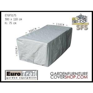 EuroTrail Protection cover for rectangular garden table, 300 x 110 H: 75 cm