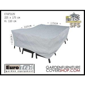 EuroTrail Cover for a rectangular garden set, 225 x 175 H: 100 cm