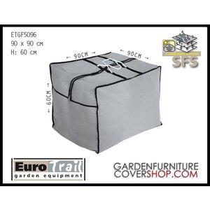 EuroTrail Cushion bag for patio furniture cushions, 90 x 90 H: 60 cm