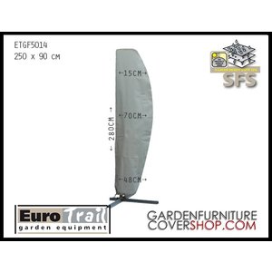 EuroTrail Curved parasol cover, H: 250 cm