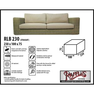 Raffles Covers Lounge sofa protection cover, 230 x 100 H: 75 cm
