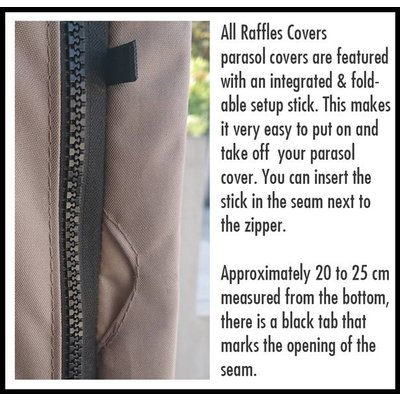 Raffles Covers Cover for parasol H: 265 cm