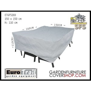 EuroTrail Weather cover for rectangular furniture set 160 x 150 H: 110 cm