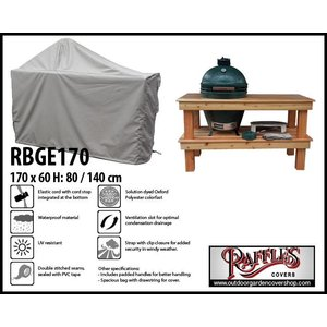 Raffles Covers Big green egg BBQ cover, 170 x 60 H: 80 / 140 cm