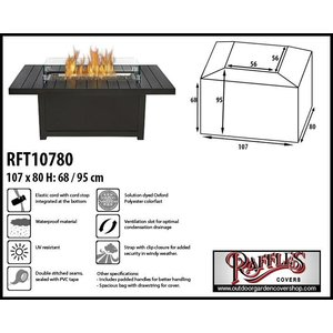 Raffles Covers Cover for fire pit table, 107 x 80 H: 68/95 cm