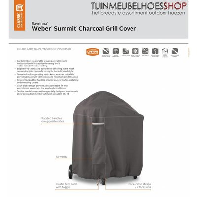Ravenna, Classic Accessories Outdoor Cover for Weber Summit 102 x 91 cm, hoog 117 cm