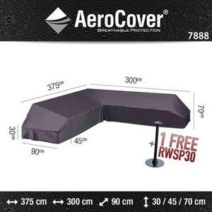 AeroCover Platform cover for a corner sofa, 375 x 300 x 90 H: 30/45/70 cm