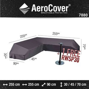 AeroCover Corner bench cover for platform set, 255 x 255 x 90 H: 30/45/70 cm