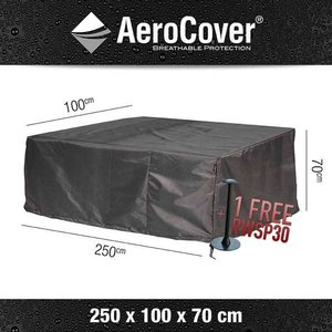 AeroCover Cover for rattan lounge sofa, 250 x 100 H: 70 cm