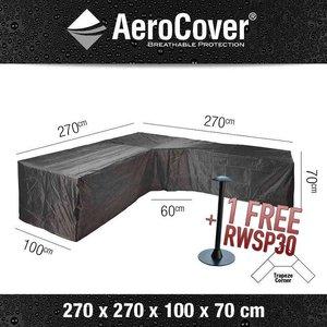 AeroCover Cover for a garden sofa with a trapeze corner, 270 x 270 H: 70 cm