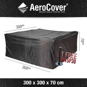 AeroCover Protection cover for a rattan lounge set, 300 x 300 H: 70 cm