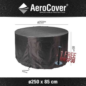 AeroCover Round patio table cover, Ø 250 cm & H: 85 cm