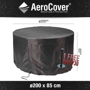 AeroCover Cover for round table and chairs, Ø 200 cm & H: 85 cm