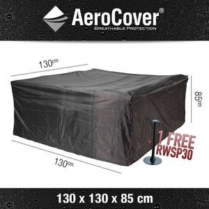AeroCover Cover for a square patio furniture set, 130 x 130 H: 85 cm