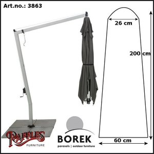 Borek Cover for a freepole parasol, H: 200 cm