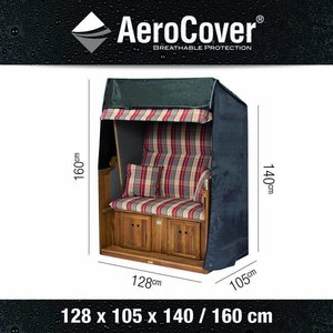 AeroCover Cover for beach bench, 128 x 105 H: 160 / 115 cm