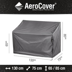 AeroCover Cover for patio bench, 130 x 75 H: 85 / 65 cm