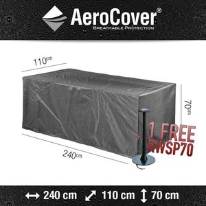 AeroCover Garden cover for table, 240 x 110 H: 70 cm