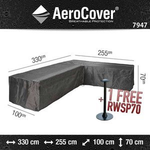 AeroCover Cover for lounge sofa with chaise longue, 330 x 255 x 100 H: 70 cm