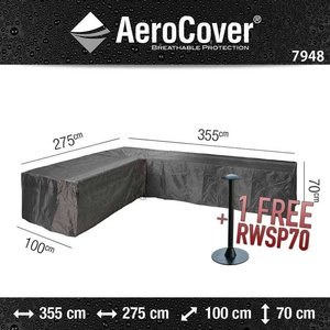 AeroCover Corner sofa cover breathable, 355 x 275 x 100 H: 70 cm