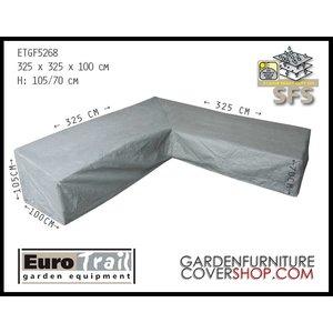 EuroTrail Lounge set cover L-shape, 325 x 325 H: 105 / 70 cm