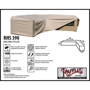 Raffles Covers Cover for large corner sofa, 390 x 390 x 115, H: 70 cm