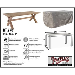 Raffles Covers Rectangular outdoor table cover, 270 x 100 H: 75 cm