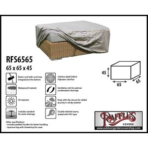 Raffles Covers Protection cover for footstool, 65 x 65 H: 45 cm