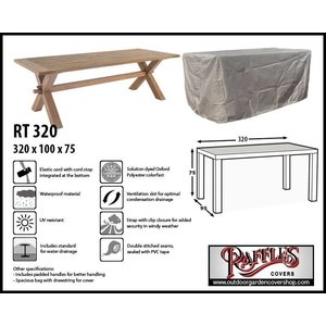 Raffles Covers Cover for over a garden table, 320 x 100 H: 75 cm