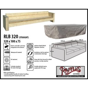 Raffles Covers Lounge patio sofa, 320 x 100 H: 75 cm