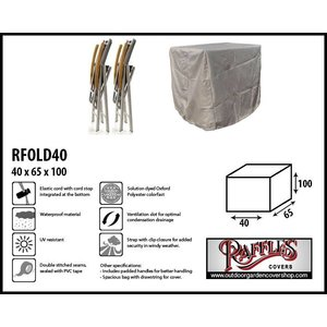 Raffles Covers Cover for foldable garden chairs, 40 x 65 H: 100 cm
