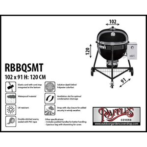 Raffles Covers Bbq cover for Weber Summit, Ø 61 cm H: 120 cm