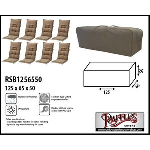 Raffles Covers Garden cushions storage bag, 125 x 65 H: 50 cm
