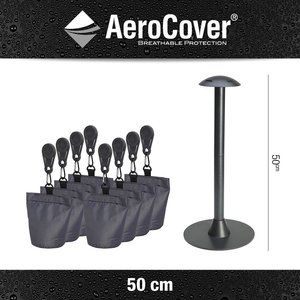 AeroCover Water shedding pole and 8 sandbag weights