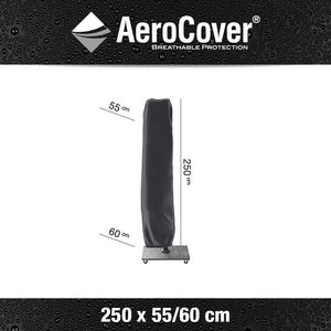 AeroCover AeroCover free arm parasol cover, H: 250 cm