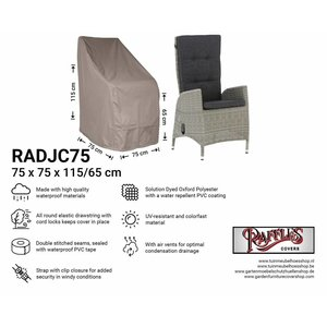 Raffles Covers Cover for adjustable wicker chair, 75 x 75 H: 115 / 65 cm