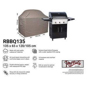 Raffles Covers Cover for BBQ,  135 x 65 H: 120 / 105 cm, taupe