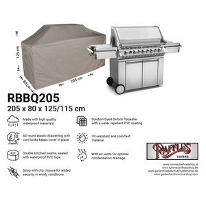 Raffles Covers XL barbecue cover, 205 x 80 H: 125 / 115 cm