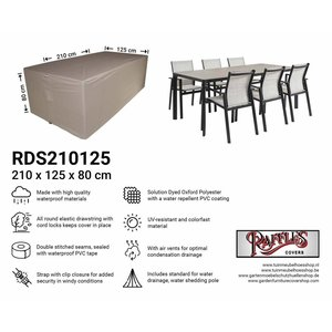 Raffles Covers Patio dining set cover, 210 x 125 H: 80 cm