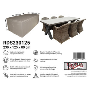 Raffles Covers Protection cover garden set, 230 x 125 H: 80 cm