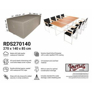 Raffles Covers Cover for furniture set , 270 x 140 H: 85 cm