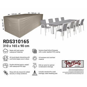 Raffles Covers Outdoor dining set cover, 310 x 165 H: 90 cm